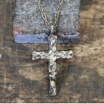NK12118 - ANTIQUE CROSS CHAIN NECKLACE - 29""