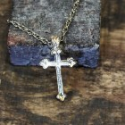 NK12139 - ANTIQUE CROSS CHAIN NECKLACE - 29""