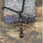 NK12131 - ANTIQUE CROSS CHAIN NECKLACE - 29""