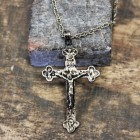 NK12142 - ANTIQUE CROSS CHAIN NECKLACE - 29""