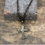 NK12121 - ANTIQUE CROSS CHAIN NECKLACE - 29""
