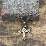 NK12143 - ANTIQUE CROSS CHAIN NECKLACE - 29""