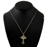 NK12115 - ANTIQUE CROSS CHAIN NECKLACE - 29""