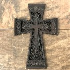 56408 - CAST IRON FLEUR DE LI WALL CROSS