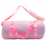 9071S-HOT PINK SEER SUCKER DUFFLE BAG