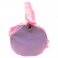 9071S-HOT PINK SEER SUCKER DUFFLE BAG