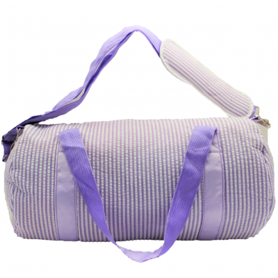 9071S-PURPLE SEER SUCKER DUFFLE BAG