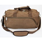 9168 - BROWN  CANVAS DUFFLE BAG