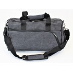 9168 - BLACK  CANVAS DUFFLE BAG