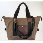 9147 - BROWN  CANVAS DUFFLE BAG