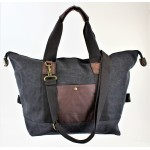 9147 - BLACK CANVAS DUFFLE BAG