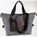 9147 - GREY CANVAS DUFFLE BAG