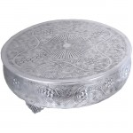 80016A - LARGE ROUND CAKE STAND / GRAPE DESIGN