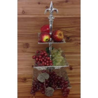3575- MULTI FDL 3 TIER SQ FRUIT STAND