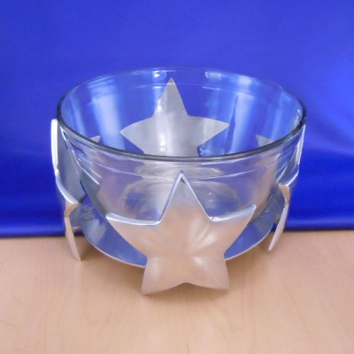 22682 STAR GLASS HOLDER W/GLASS