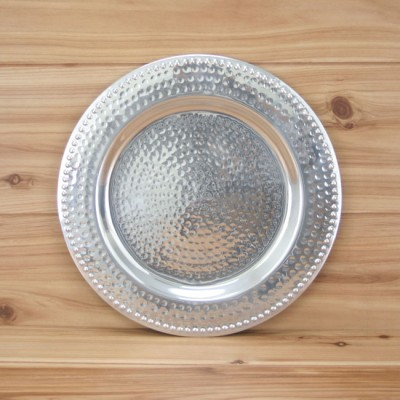 """3252 -  CHARGER PLATE W/HAMMERED DESIGN 13""""X13""""X.5"""""""