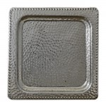 "3519- TRAY HAMMERED DESIGN SQUARE 13""X13"""