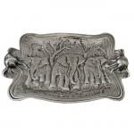 50809-LARGE RECT. ELEPHANT TRAY W/HANDLE
