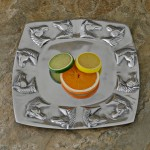 50974-HORSE HEAD SQUARE TRAY