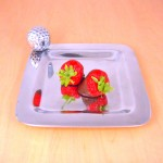 52105 - PLAIN SQ  TRAY / W GOLF BALL