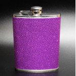 181087 - PURPLE GLITTER FLASK  8OZ.