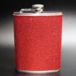 181088 - RED GLITTER FLASK  8OZ.