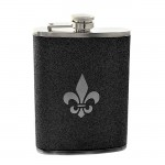 181099 - FDL BLACK GLITTER FLASK  8OZ.
