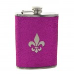 181101 - FDL PURPLE GLITTER FLASK  8OZ.