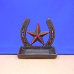 40057RED - STAR SOAP DISH /W RED CRYSTAL