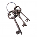 G033- CAST IRON OLD KEY SET