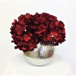 "80048-ROUND 6"" FLOWER VASE W/HAMMERED DESIGN"