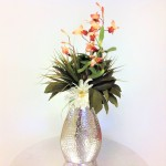 "80050-FLOWER VASE 10.5"" W/HAMMERED DESIGN"