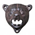 56573- CAST IRON BEAR HEAD  BOTTLE OPENER