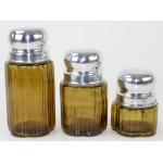 50002 AMBER- ROUND 3PC. SMALL CANISTER SET WITH LIDS