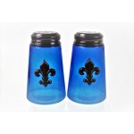 600020COP-BLUE - 2PC. SALT-PEPPER SHAKER BLUE(COP)