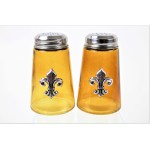 600020SIL-AMB - 2PC. SALT-PEPPER SHAKER AMBER(SIL.)
