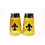600020COP-AM- 2PC. SALT-PEPPER SHAKER AMBER(COP)