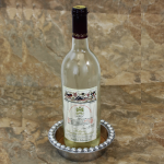 51082 BEADED WINE COASTER / CANDLE HOLDER