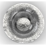 80053A - LARGE HAMMERED BOWL 16""