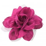 180650-HP- HOT PINK COLOR FLOWER BROOCH
