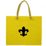 13-YB YELLOW PLAIN JUTE BAG W / BLACK FDL