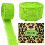 GE-12GRN - LIGHT GREEN BURLAP JUTE RIBBON - 10 Meters X 2""