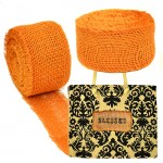 GE-12ORN - ORANGE BURLAP JUTE RIBBON - 10 Meters X 2""
