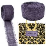GE-12PL - PURPLE BURLAP JUTE RIBBON - 10 Meters X 2""