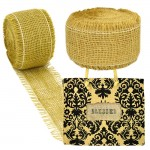 GE-12TAN - TAN BURLAP JUTE RIBBON - 10 Meters X 2""