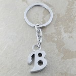 10030-B PLAIN INITIAL LETTER KEY CHAIN