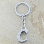10030-C PLAIN INITIAL LETTER KEY CHAIN
