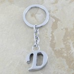 10030-D PLAIN INITIAL LETTER KEY CHAIN