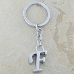 10030-F PLAIN INITIAL LETTER KEY CHAIN