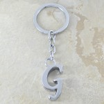 10030-G PLAIN INITIAL LETTER KEY CHAIN